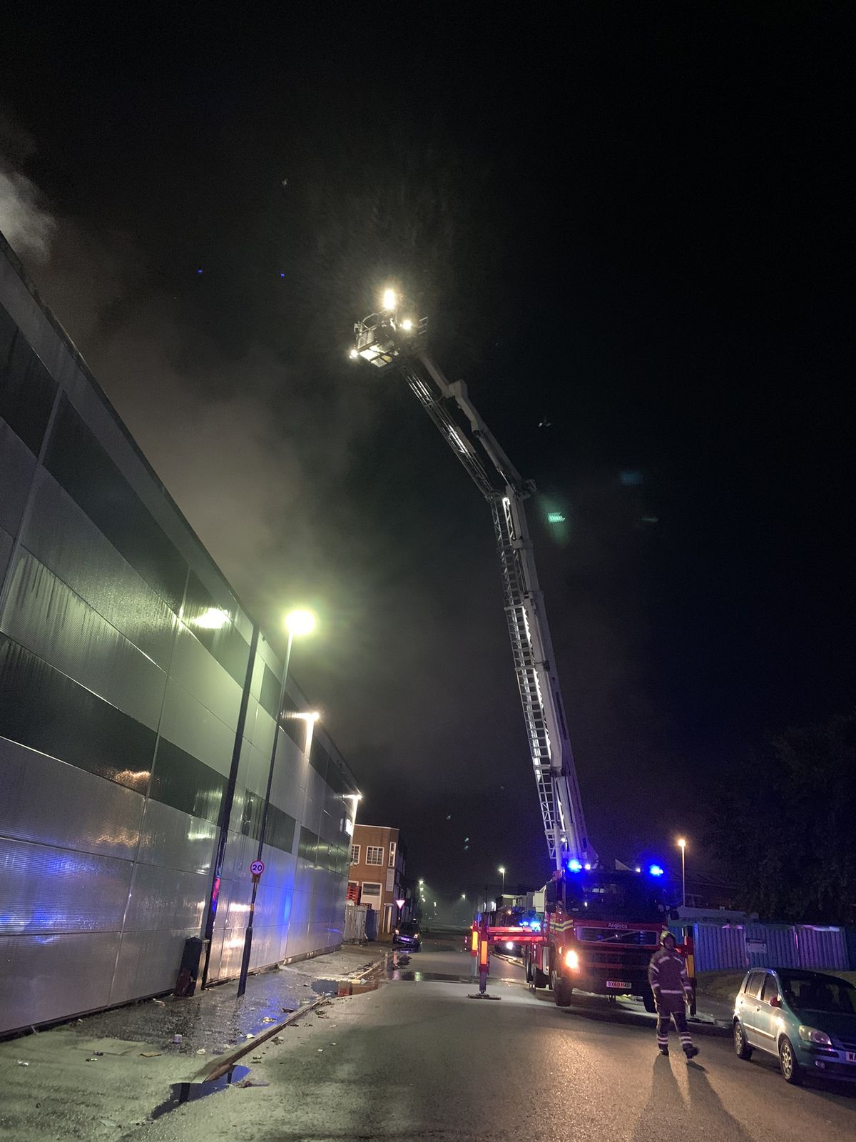 At its peak 70 firefighters were tackling the blaze. Photo: West Midlands Fire Service