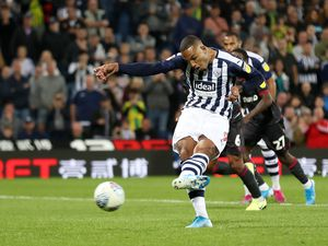 Kenneth Zohore of West Bromwich Albion scores a goal to make it 1-1 from the penalty spot. (AMA)