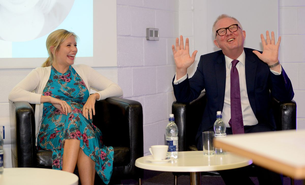 Rachel Riley was invited to speak at the college by Dudley North MP Ian Austin