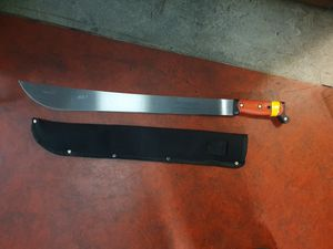 The machete was seized following a chase through Dudley town centre. Photo: West Midlands Police.