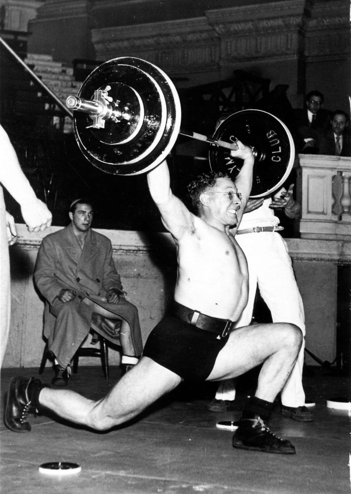 Weightlifter Chas Jnr. doing The Snatch.