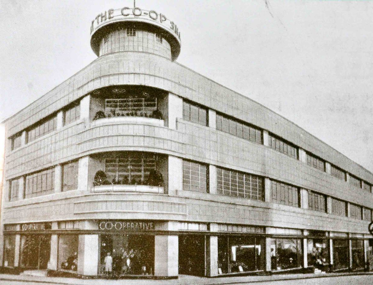 The building in early days