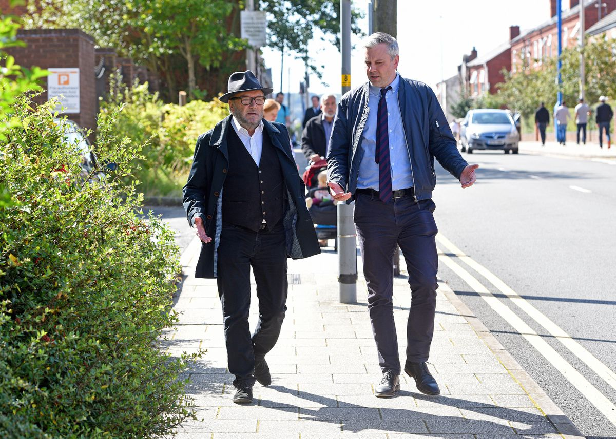 Mr Galloway speaks to Peter Madeley in West Bromwich