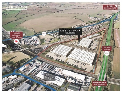 Work begins on major industrial site in Lichfield