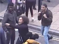 Wanted: CCTV released of suspects after three teenagers stabbed in Birmingham city centre