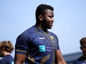 Cheick Kone in Worcester Warriors training. (Picture by Robbie Stephenson/JMP)