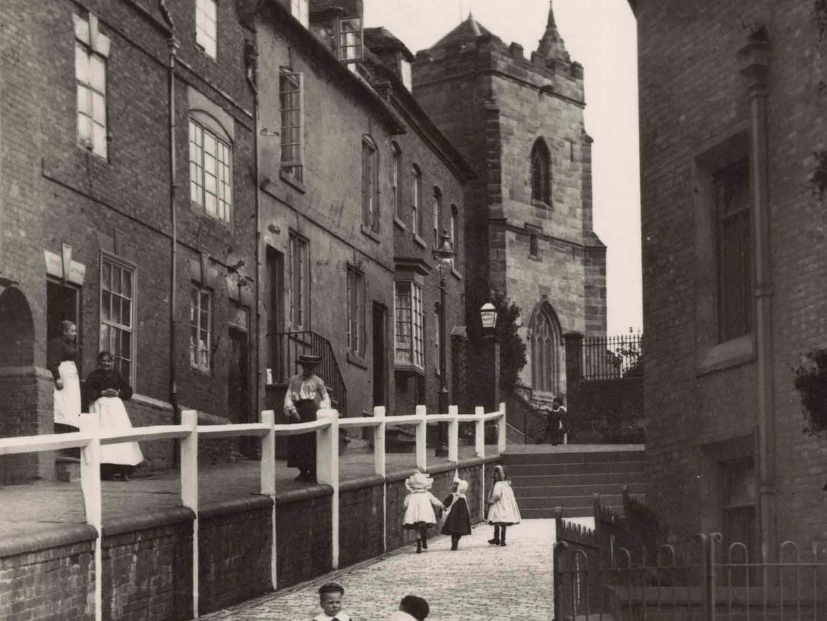 Church Hill looking to Holy Trinity Church - Picture Sutton Coldfield Library