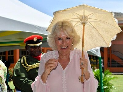 'Blimey! That packs a punch!' says Camilla after sampling Caribbean rum