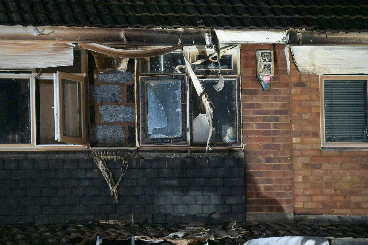 The severely damaged house. Photo: SnapperSK