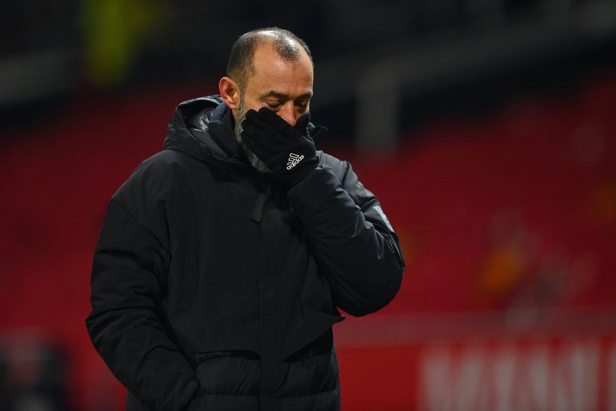 Nuno Espirito Santo the manager / head coach of Wolverhampton Wanderers at full time. (AMA)