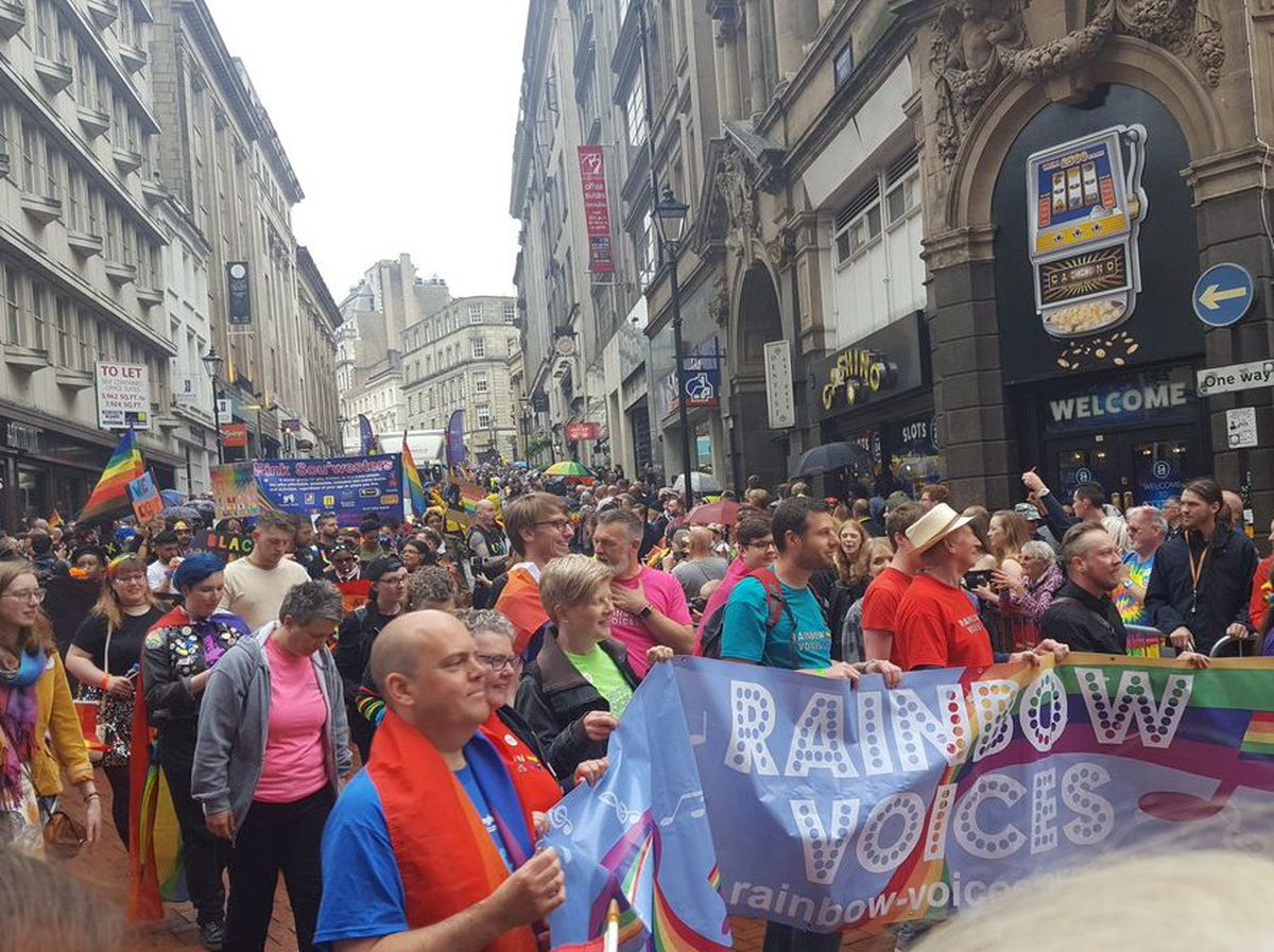 The colourful parade made its way through Birmingham