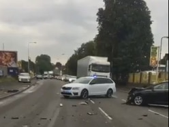 Motorcyclist and child injured in Cannock crash