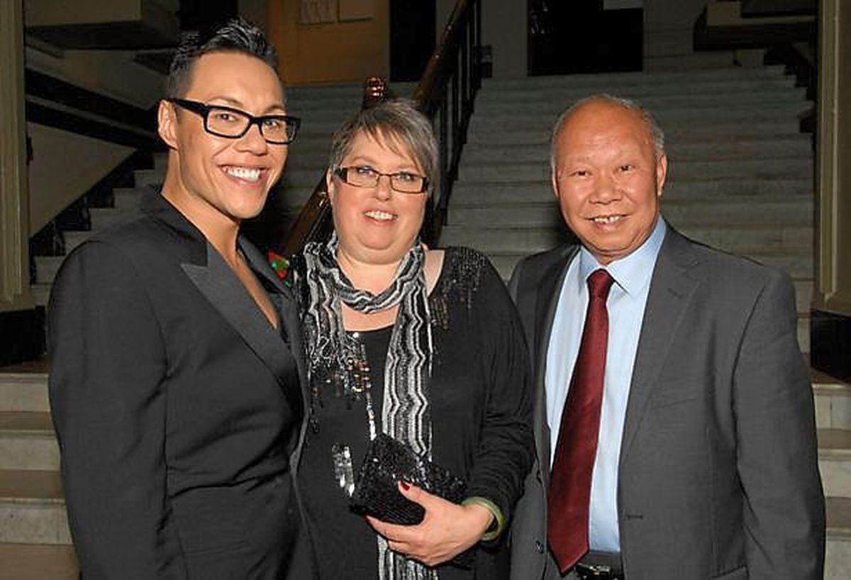 Gok with his parents