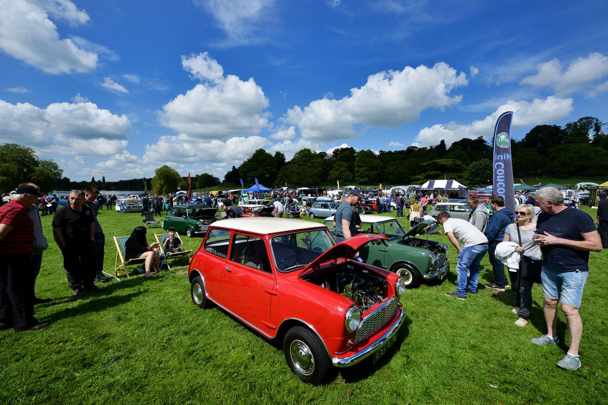 Hundreds of Minis were on display at Himley Hall