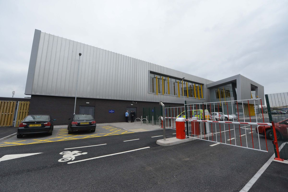 Oldbury Custody Suite, where the 17-year-old was being detained