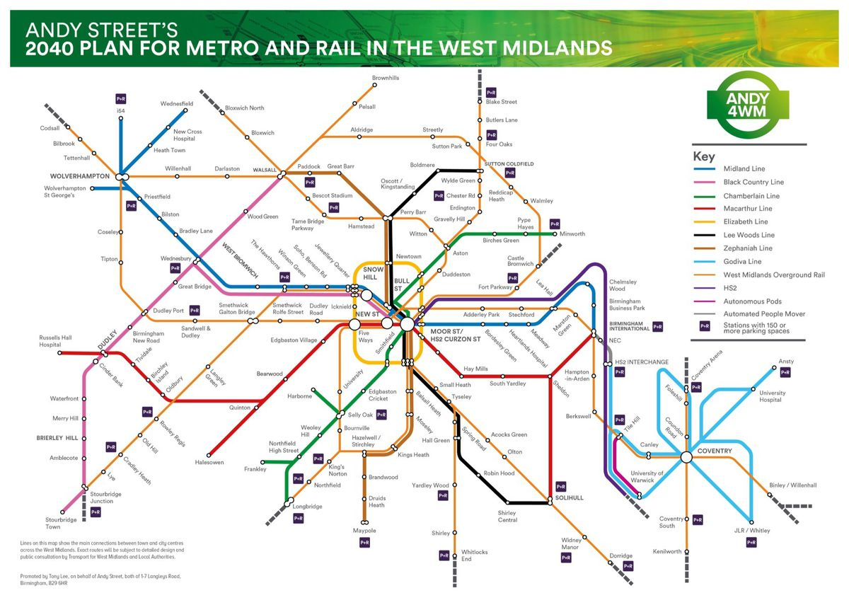 Andy Street's vision for the metro map