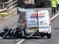 Woman killed as lorry and van collide on M5