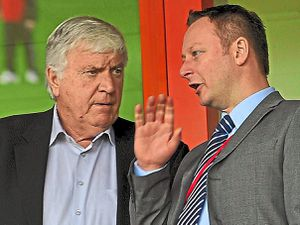 Walsall owner Jeff Bonser and chief executive Stefan Gamble