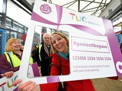 Wolverhampton MP Emma Reynolds getting on board bus pass campaign