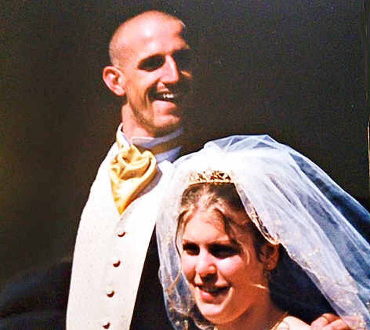Alan and his late wife Louise Evans on their wedding day