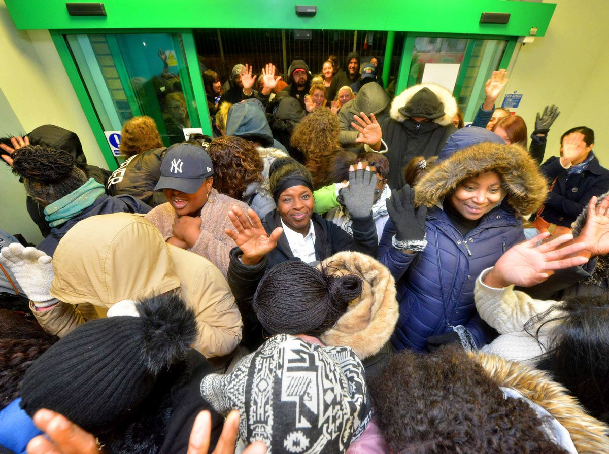 Shoppers burst inside the story to take advantage of the Black Friday bargains