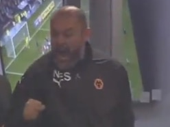 WATCH: Nuno's wild celebrations as Wolves snatch 93rd minute winner at Bristol City