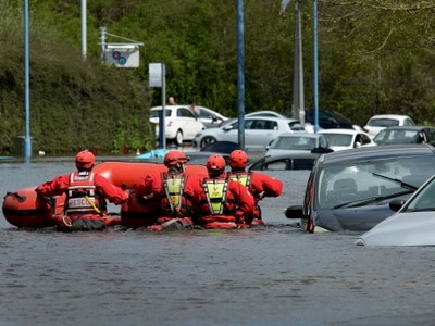 Wednesbury flood: Woman rescued from home as crews battle up to 9ft torrent