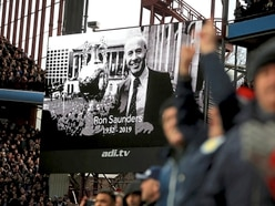 Villa Park in salute to legend Ron Saunders