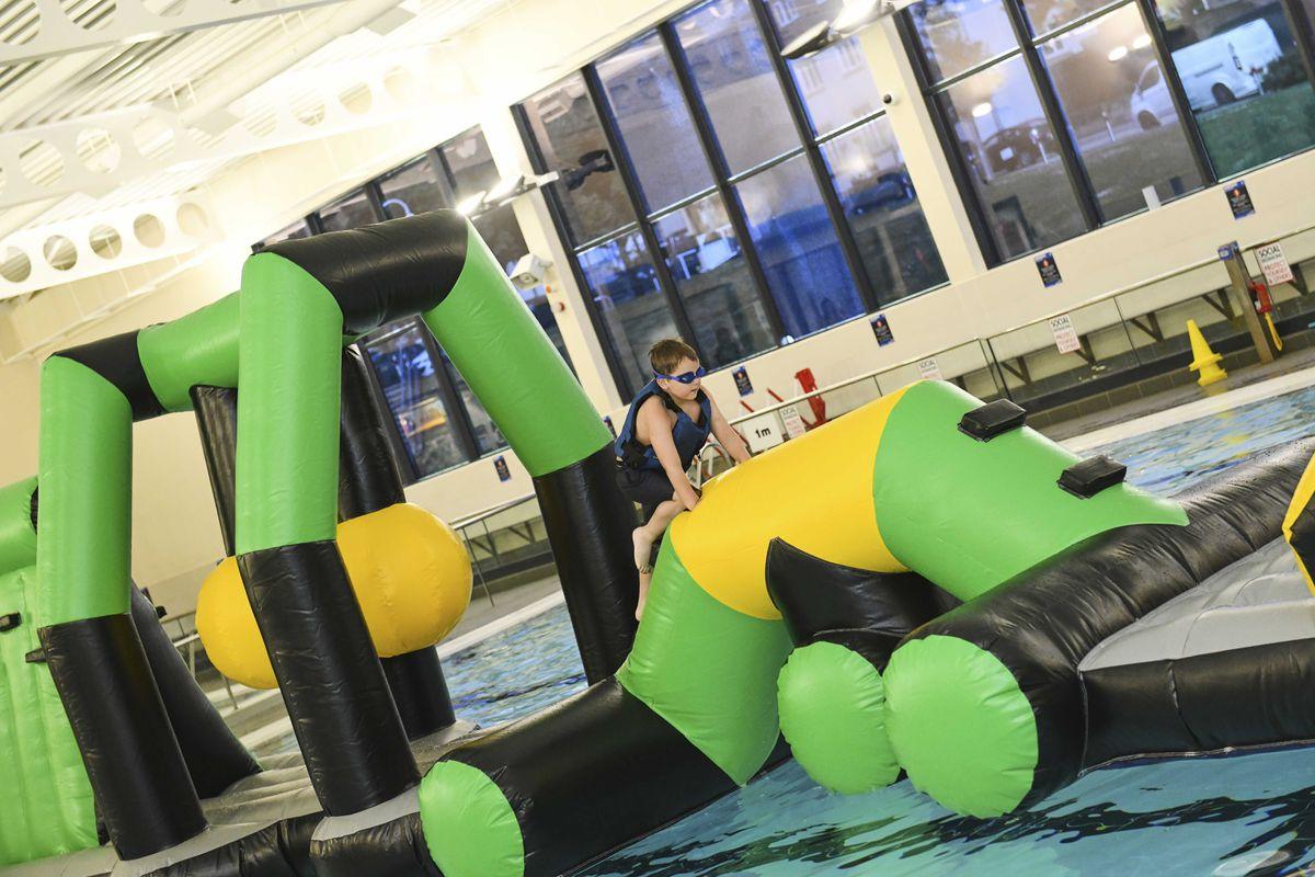 Youngsters enjoy Aqua Mayhem