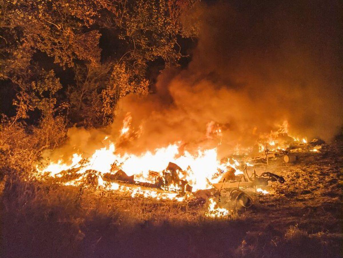 The fire in Aldridge. Photo: Aldridge Fire