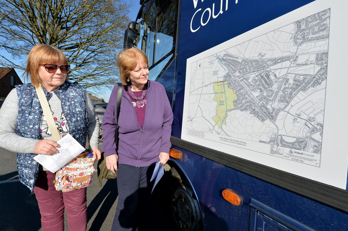 Sheila Lewis and Lynne Hemming from Friends of Pelsall Common