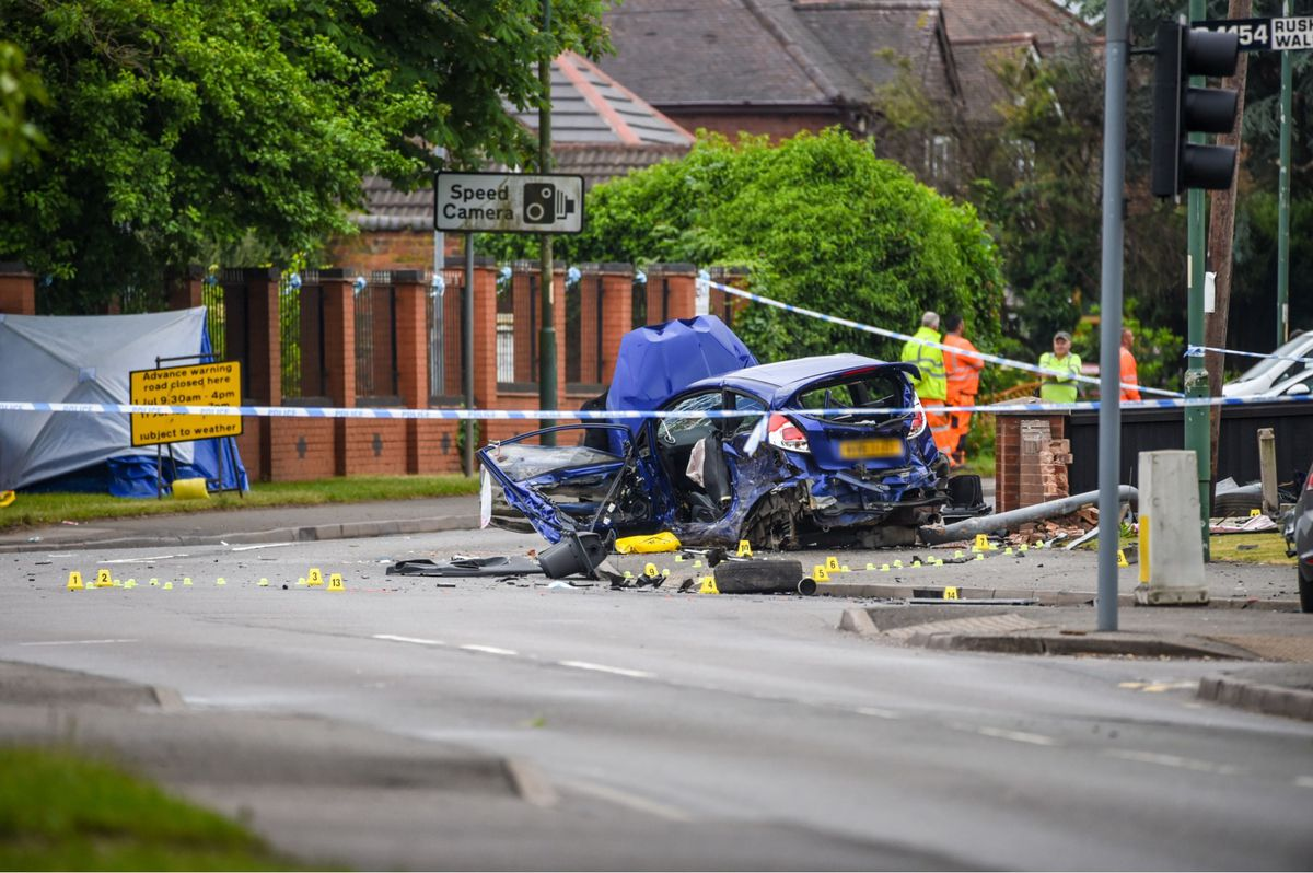 One man was killed in the crash while the driver of the Fiesta is now on the run. Photo: SnapperSK