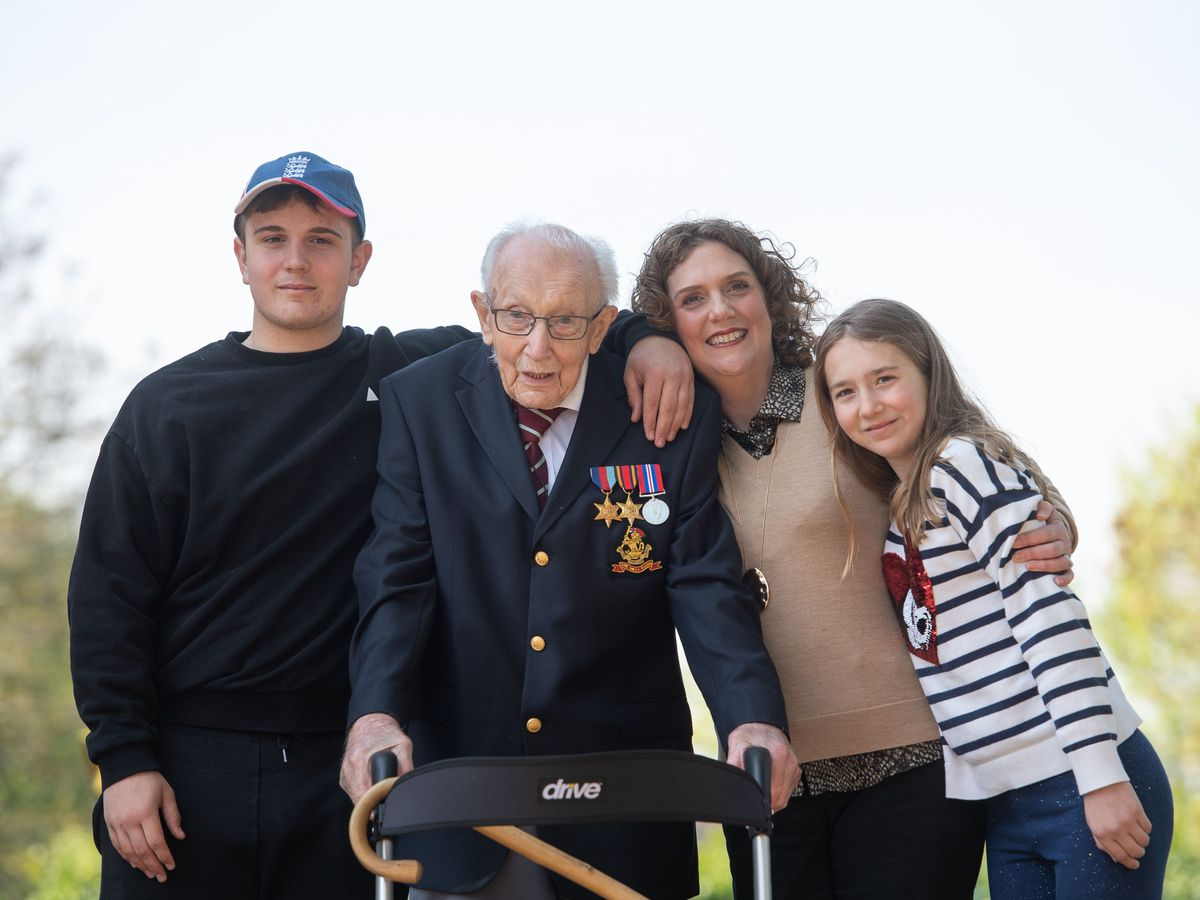Britain's record fund-raiser Captain Tom Moore has died, family says