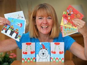 Mandy Stone, who runs the Creation Station, gets set for some of the art activities she has organised for local children, including Christmas card making