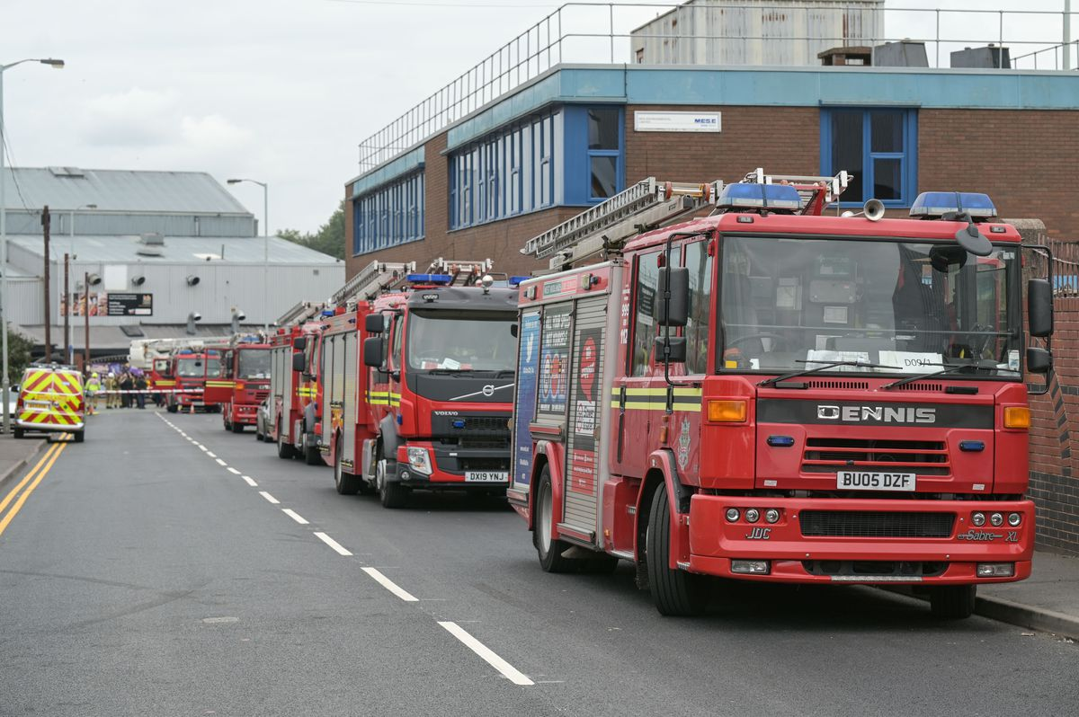 Fire engines lined the street as firefighters tackled the blaze. Photo: SnapperSK