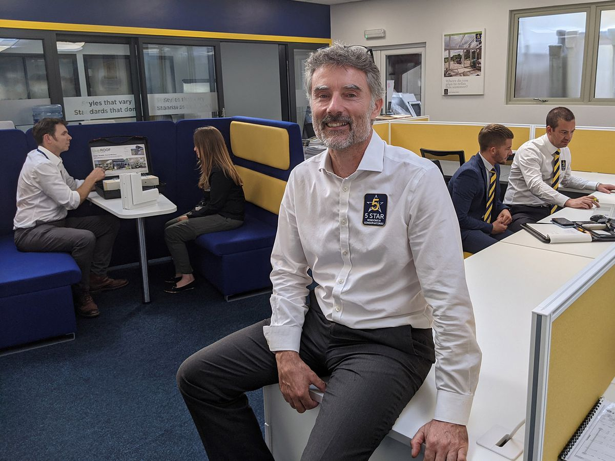 Richard Manser (MD of Five Star Windows and Conservatories) in the firm's new £150,000 training academy