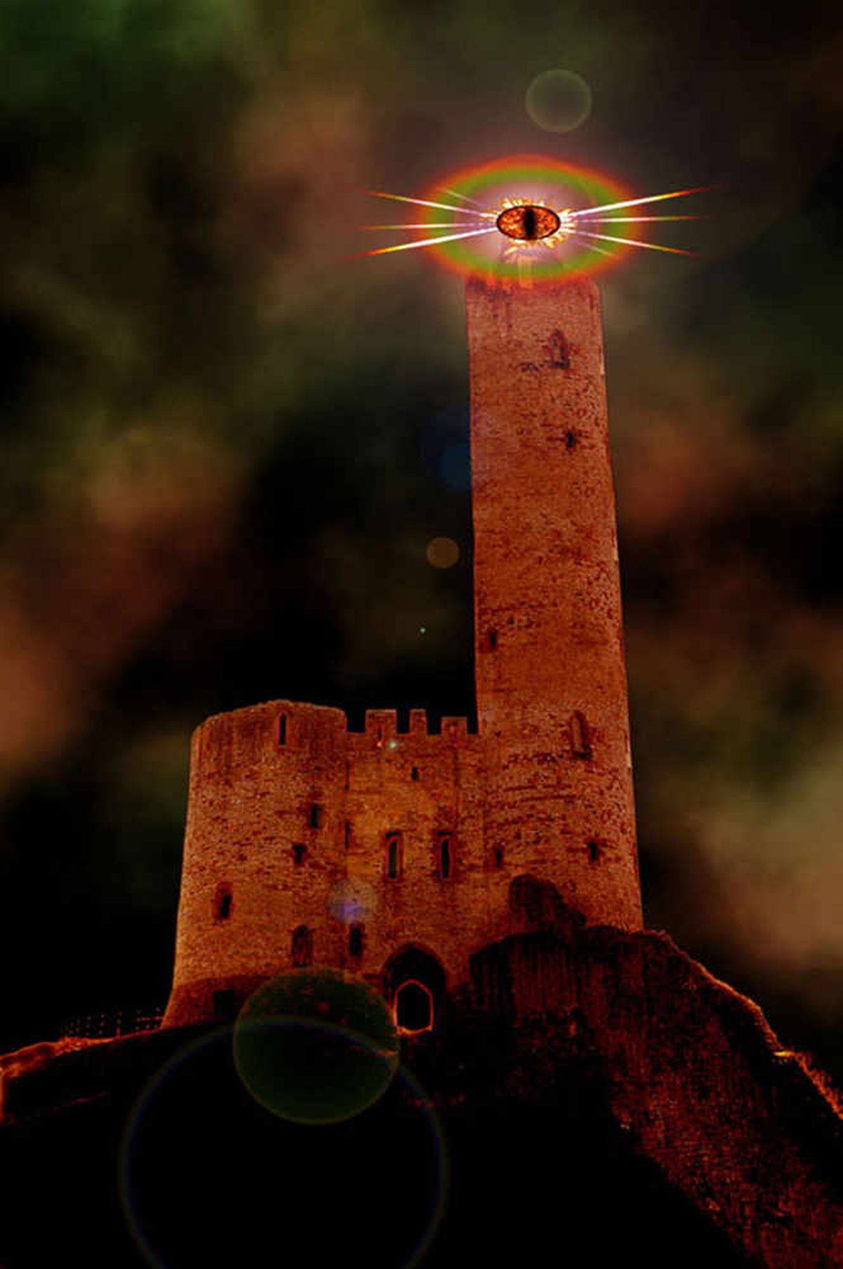 The Black Country inspired Mordor. This is Dudley Castle, as it would look were it really Sauron's home Barud Dur.