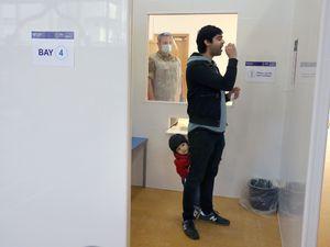 Man takes coronavirus test
