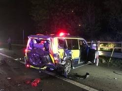 M6 crash drama among spate of smashes on Midlands roads