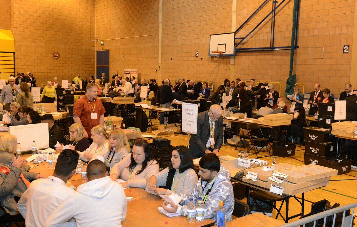 Counting at the Dudley local elections