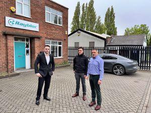 Lewis Haydon, left, Clarke Haydon and Sean Haydon, right