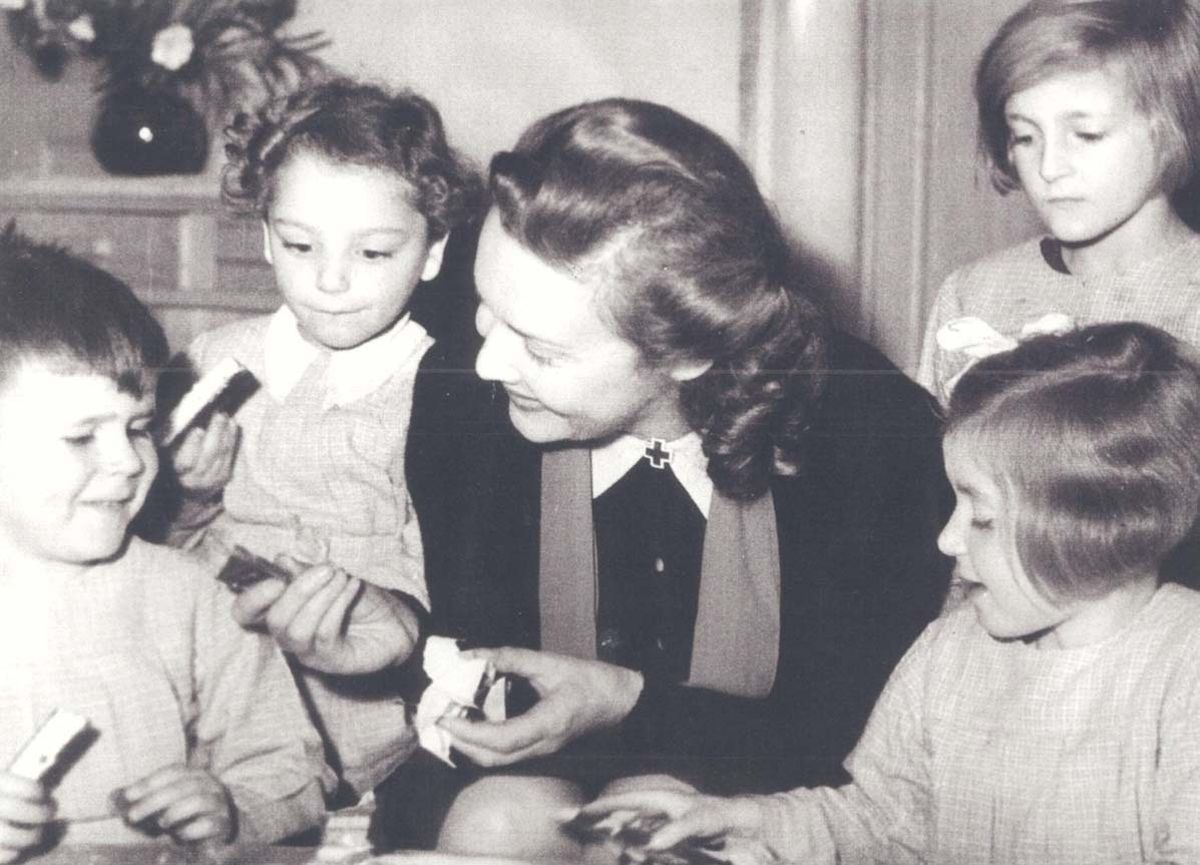 Madeleine at her orphanage in France, circa 1948
