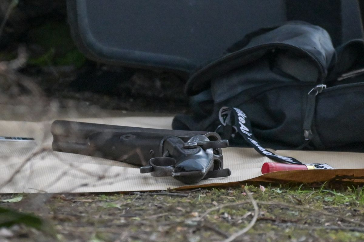 Police recovered a weapon nearby. Photo: Snapper SK