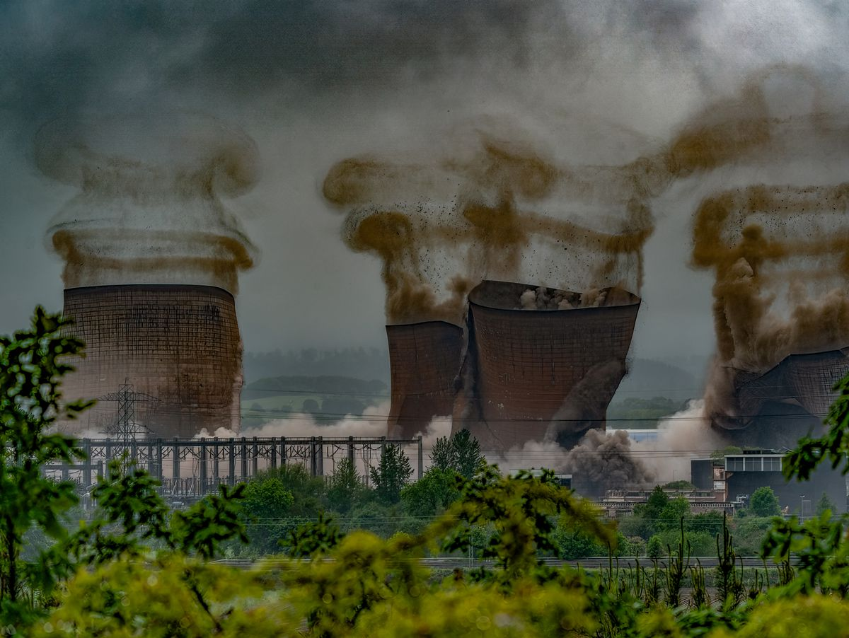 Rugeley Power Station's cooling towers were demolished on June 6