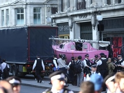 Pink climate boat towed from Oxford Circus after five-day blockade