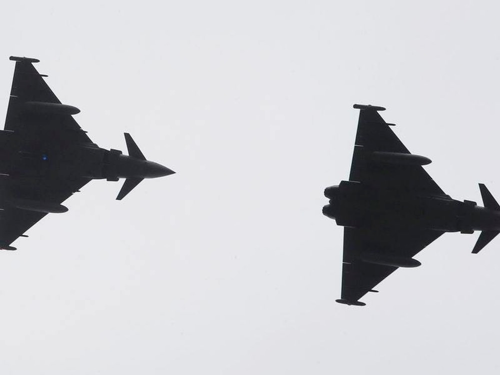 RAF Typhoons scrambled from Lossiemouth to intercept Russian jets