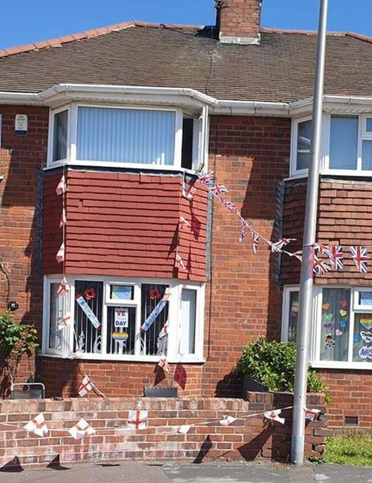 Window displays in Lawley Street, West Bromwich. Photo: Lyn Ferguson Hunt