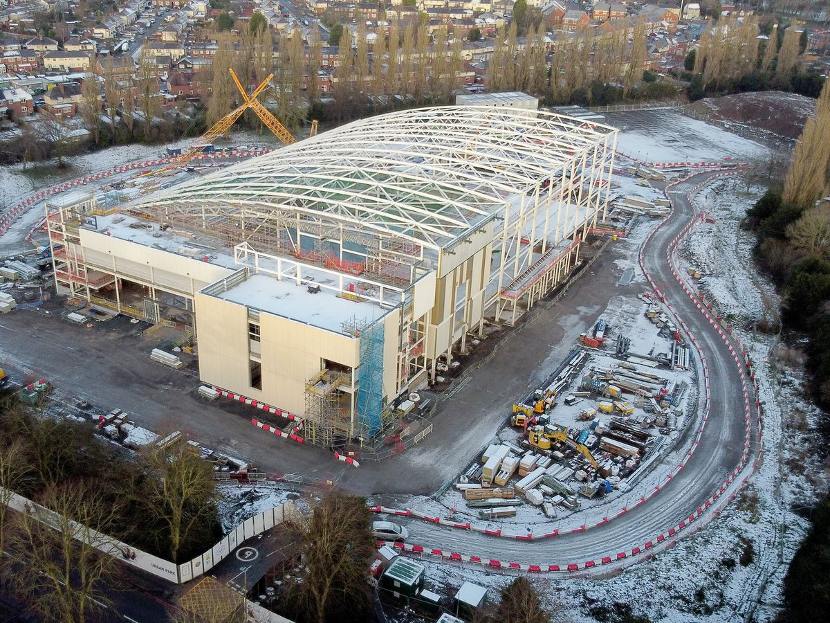 The new Sandwell Aquatics Centre is taking shape in Smethwick.