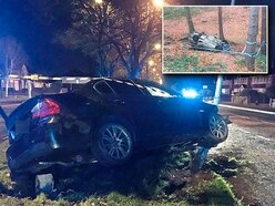 Suspected drink-driver crashes into lamppost during spate of New Year crashes