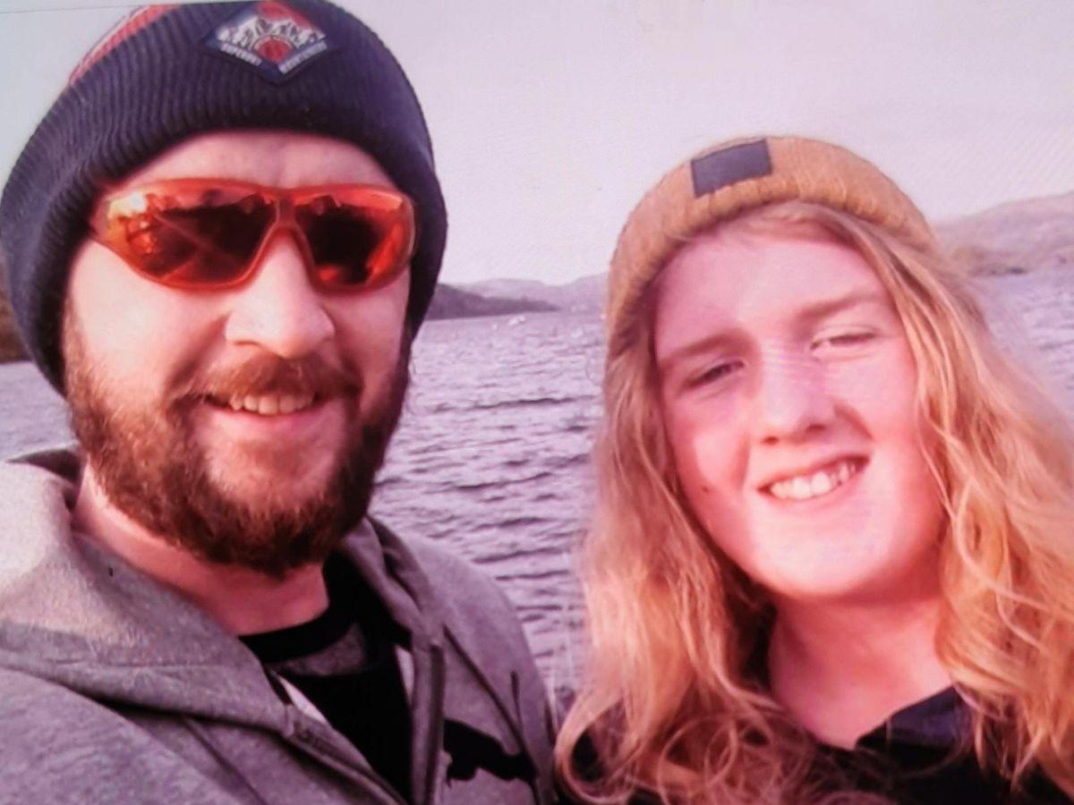Joshua James Flynn, left, and son Coby-Jay Flynn, right